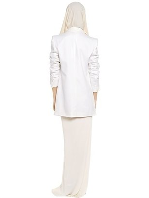 Vionnet Cotton Viscose Piqué Boyfriend Jacket