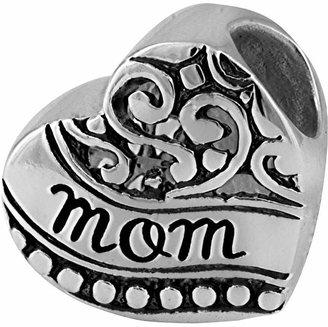 FINE JEWELRY Forever Moments Oxidized Mom Heart Charm Bracelet Bead