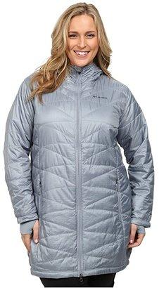 Columbia Plus Size Mighty Litetm Hooded Jacket (Tradewinds Grey) Women's Coat