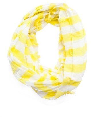 MANGO Tasselled striped foulard