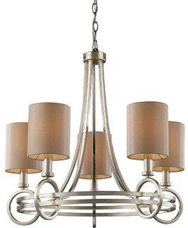 Bed Bath & Beyond ELK Lighting New York 5-Light Chandelier in Renaissance Silver