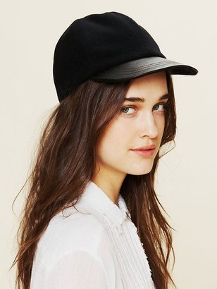 Free People Leather Brimmed Cap