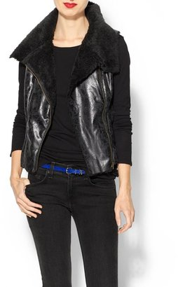 Juicy Couture Tinley Road Coated Aviator Vest