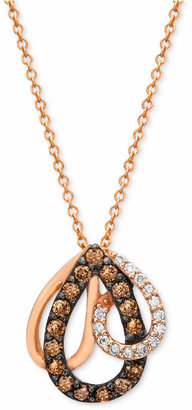 Chocolate by Petite Le Vian® Diamond (1/3 ct. t.w.) Pendant Necklace in 14k Rose Gold $1,000 thestylecure.com