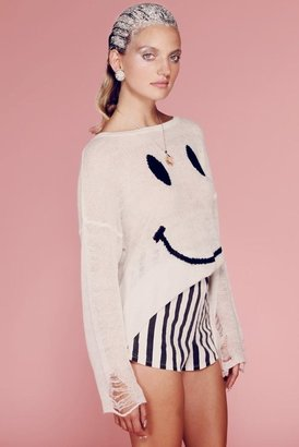 Wildfox Couture 90s Smile Lennon Sweater in White