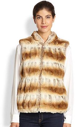 Saks Fifth Avenue Donna Salyers for Couture Faux Fur Zip Vest