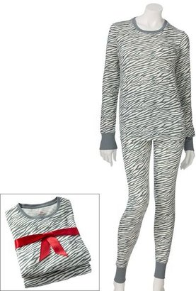 Cuddl Duds cuddl johns printed warmwear gift set