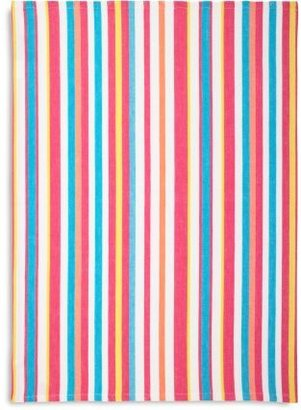 Sur La Table Hot Bright Small-Stripe Kitchen Towel