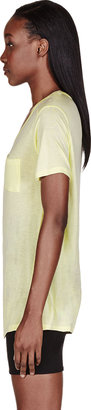 Alexander Wang Pale Yellow Sky Classic Pocket T-Shirt