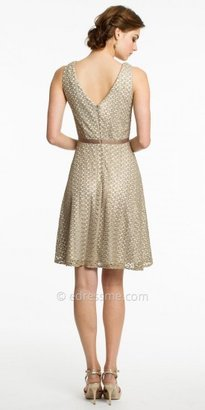 JS Collections Sleeveless Woven Lace Cocktail Dresses