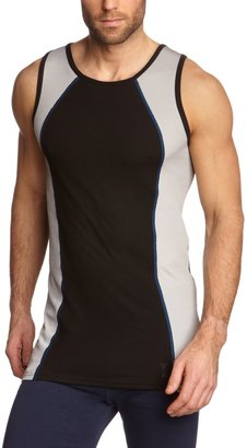 Schiesser 135298-000 Men's Vest - Black - Medium