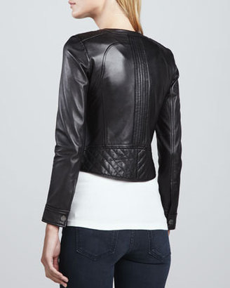 Tory Burch Daphne Lambskin Cropped Jacket