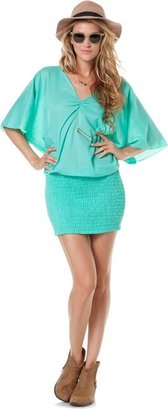 Indah Cove Blouson Mini Dress