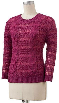 Lauren Conrad tape yarn sweater