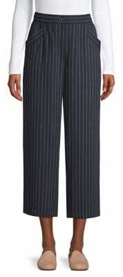 Eileen Fisher Striped High-Rise Wide-Leg Pants