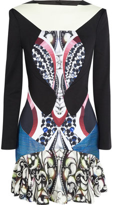 Peter Pilotto Caio stretch-satin jersey dress