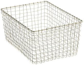 Container Store Medium Marche Basket Zinc