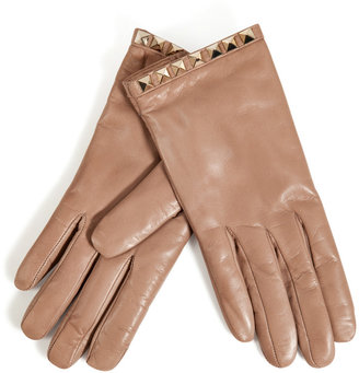 Valentino Studded Leather Gloves