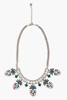 Dannijo Navy Crystal Kimora Necklace