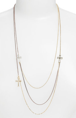 Stephan & Co Layered Cross Necklace