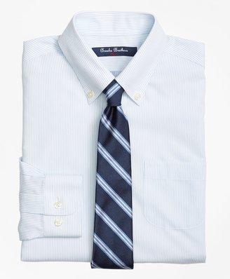 Brooks Brothers Boys Non-Iron Supima Cotton Broadcloth Mini Stripe Dress Shirt