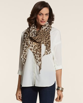 Chico's All Over Leopard Scarf