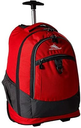 High Sierra Chaser Wheeled Backpack (Crimson/Mercury) Backpack Bags