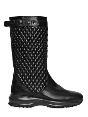 Hogan 30mm Interactive Quilted Leather Boots