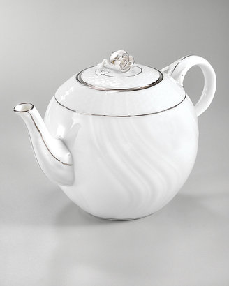 Herend Platinum Edge Teapot & Accessories