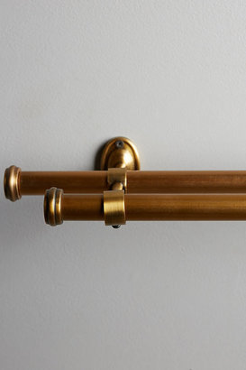 Anthropologie Adjustable Double Curtain Rod By in Brown Size S