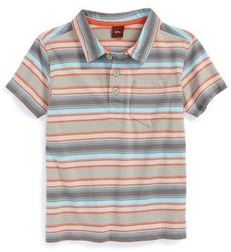 Tea Collection 'Mirage' Stripe Cotton Polo (Little Boys & Big Boys)
