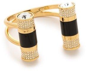 Rachel Zoe Doble Crystal Barrel Cuff Bracelet