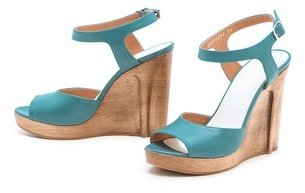 Maison Martin Margiela Strappy Wedged Sandals with Heel Illusion