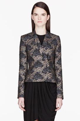 Kenzo Gold Jacquard Casual blazer