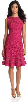 Adrianna Papell Women's Lace Skater Dress
