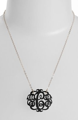 Moon and Lola Women's Medium Oval Personalized Monogram Pendant Necklace (Nordstrom Exclusive)