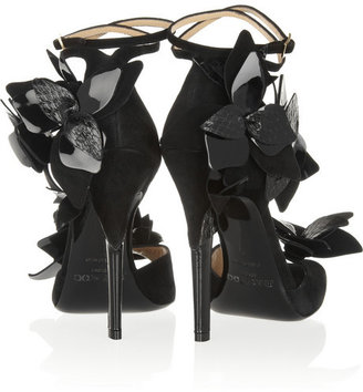 Jimmy Choo Tallula embellished suede sandals