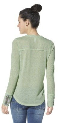 Xhilaration Juniors Beaded Cuff Knit Top - Assorted Colors