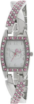Hello Kitty Womens Silver-Tone Bracelet Watch $50 thestylecure.com