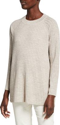 Eileen Fisher Straight Merino Wool Crewneck Tunic