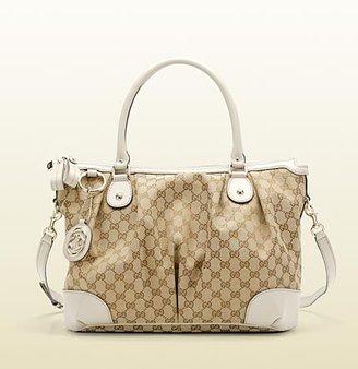 Gucci sukey original GG canvas top handle bag