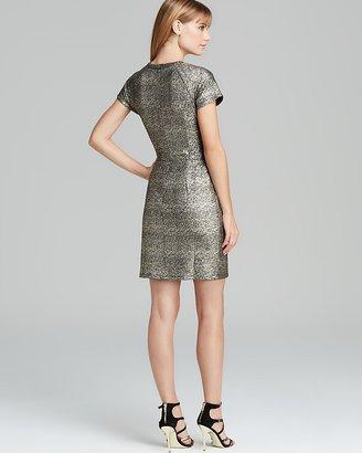 AQUA Dress - Metallic Splatter
