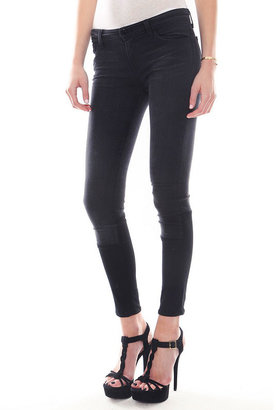 J Brand Stepped Hem Skinny Jean in Graphite