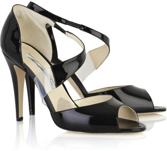 Brian Atwood Katie Lee patent-leather sandals
