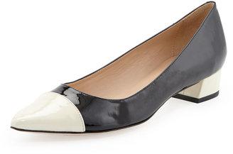 Kate Spade adie colorblock flat, black/cream
