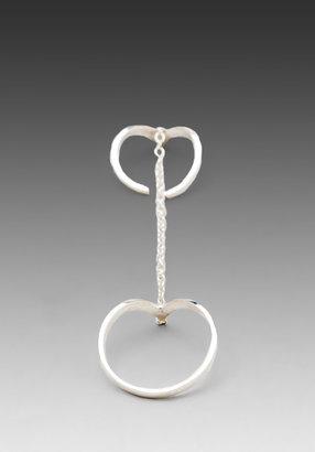 Jacquie Aiche 1cz V Chain Ring