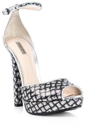 Bottega Veneta Silver sequin shoes