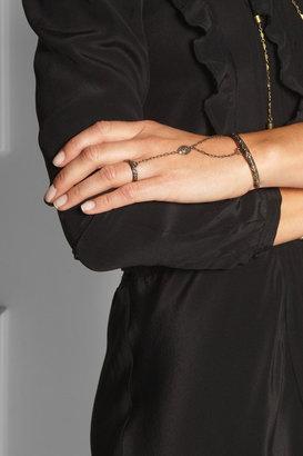 Pamela Love Anja embossed bronze finger bracelet