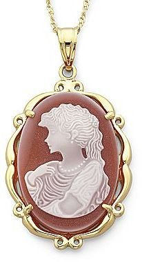 JCPenney Mother-of-Pearl Cameo Pendant