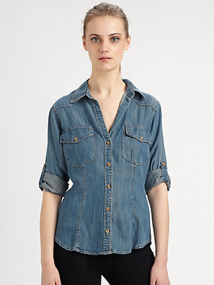 Bella Dahl Aged Denim Shirt